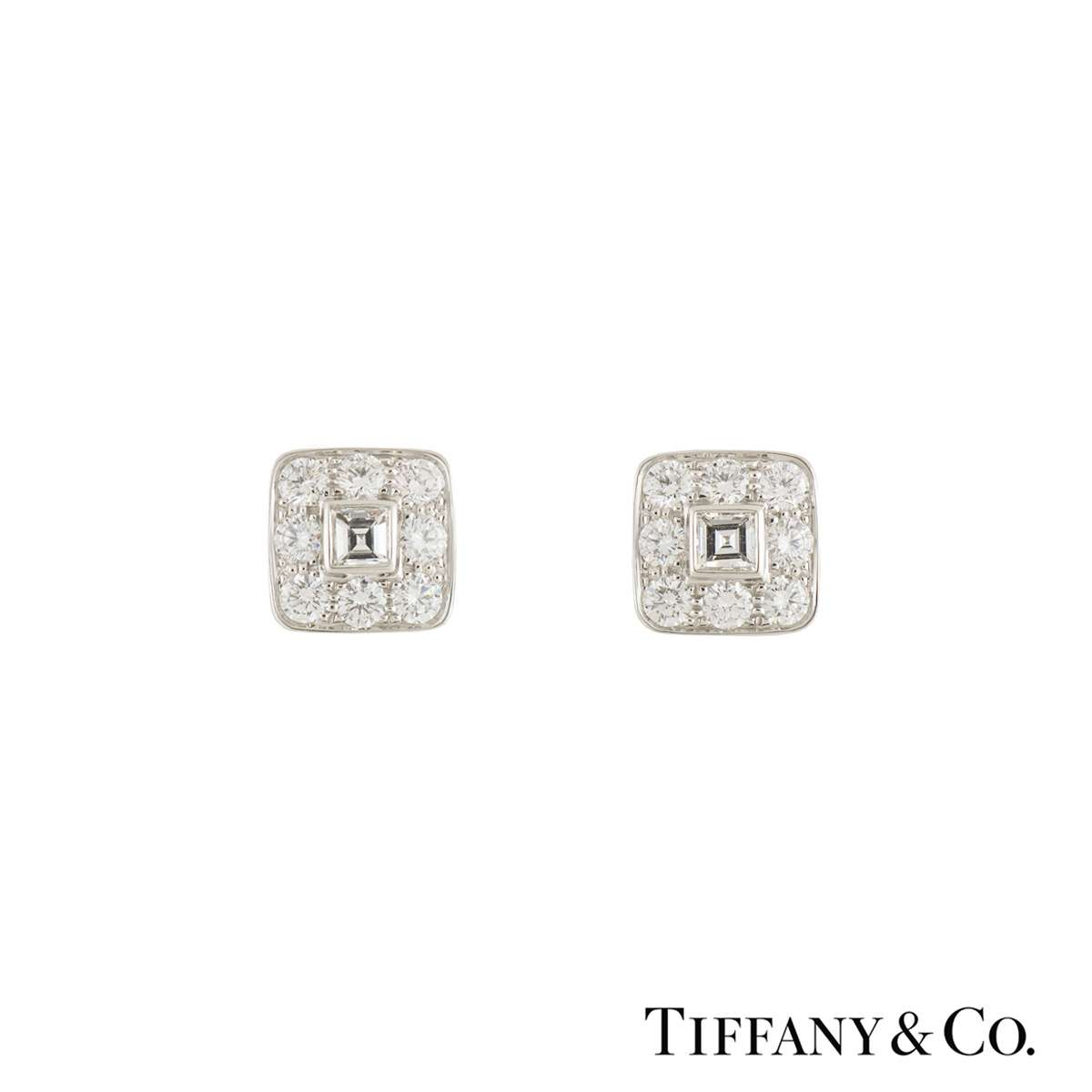 Tiffany & Co. Platinum Diamond Stud Earrings